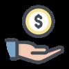 Icons Receive Cash