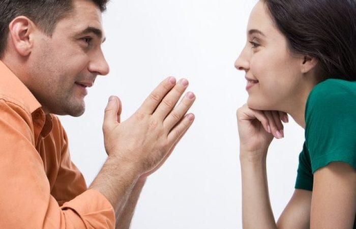 couple rural talking