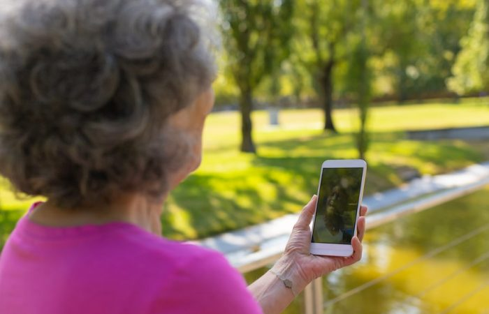 Woman Using Mobile for Video Counselling